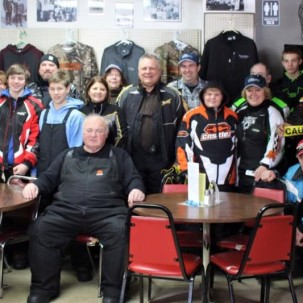 Riders at Two Inlets Country Store